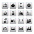 Shopping Icons. Gray. Web 2.0 icons