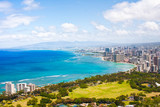 Beautiful Skyline of Oahu,Hawaii