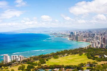 Beautiful Skyline of Oahu,Hawaii