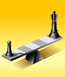 Chess on see saw