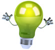 Green light bulb