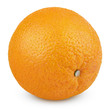 Ripe orange fruit isolated on white with clipping path