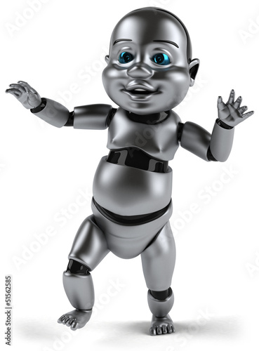 Tuinposter Robots Baby robot