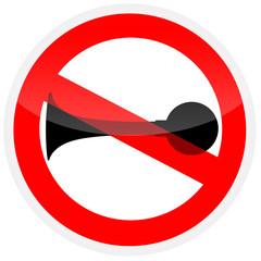 Sinal de proibição - Proibido buzinar