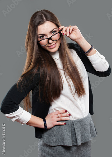 young beautiful girl in studio
