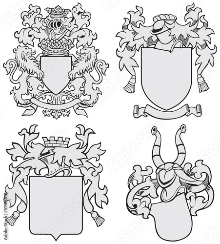 set of aristocratic emblems No7