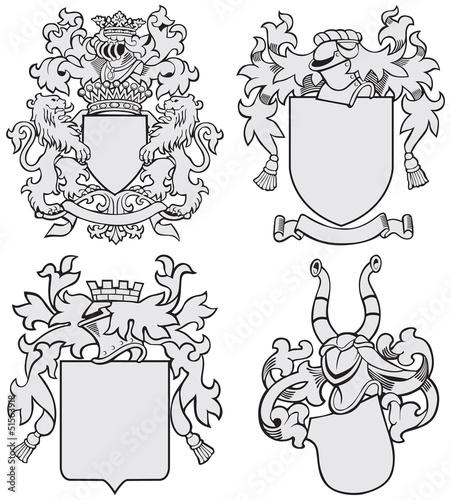 set of aristocratic emblems No7