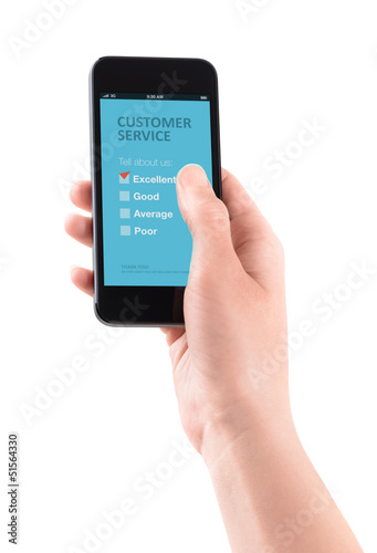 Customer service feedback on mobile