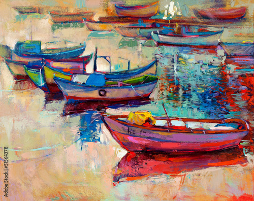 Boats and ocean - 51564378