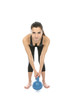 Model Released.  Woman Exercising