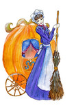 cinderella with pumpkin carriage poster