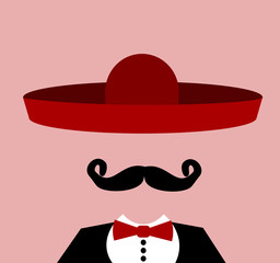 man with red sombrero