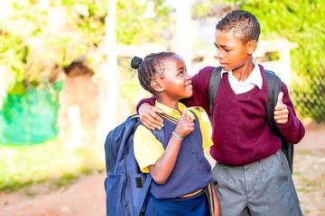 African school  children very positive