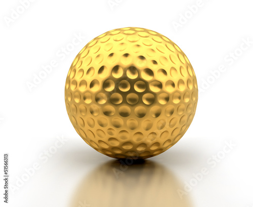 Golden Golf Ball