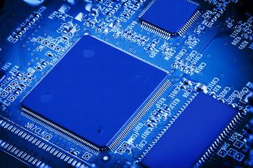 Blue Microchip Electronic