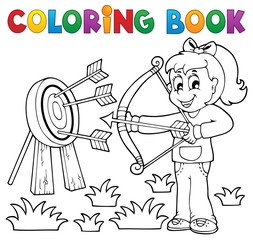 Coloring book kids play theme 3