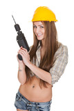 Young Attractive Female Worker