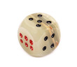 Onyx  dices with red and black dots against