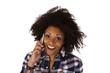 Junge Frau mit Spartphone