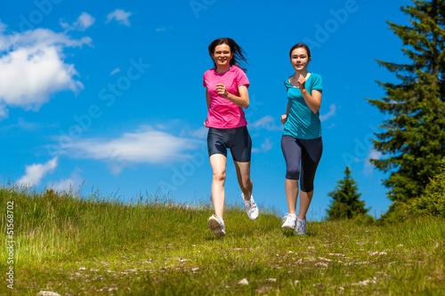 Women running