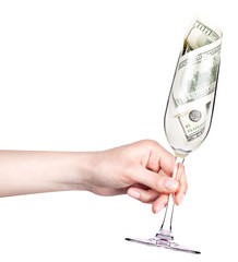 money Cocktail business concept toast