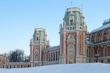 The main palace of Tsaritsyno estate in Moscow, Russia