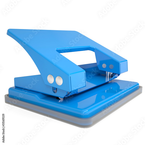 Blue office hole punch