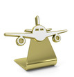 """Plane"" Golden Icon"