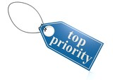 Top priority label poster