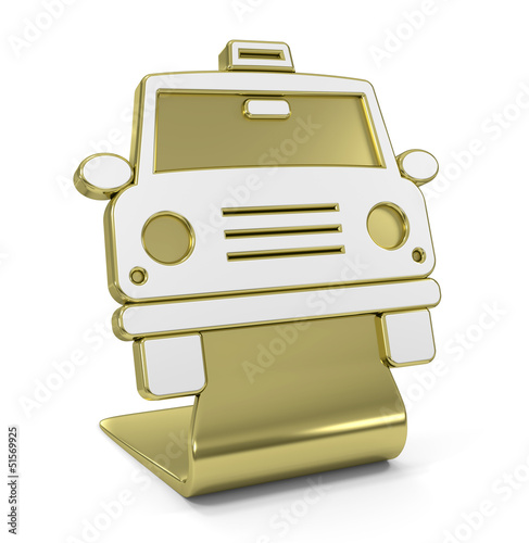 """Taxi"" Golden Icon"