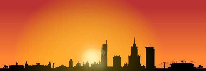 Skyline Warschau Sunrise