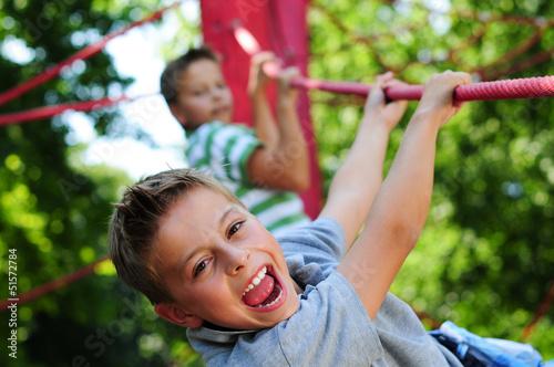 Leinwanddruck Bild Kinder aktiv