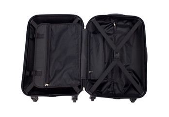 An opened luggage showing the functions inside