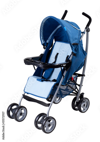 A modern pram isolated on white background