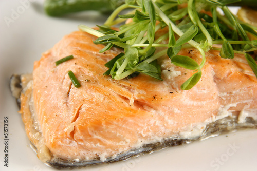 baked trout fillet
