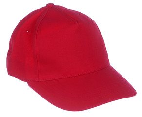 red cap isolated on white background