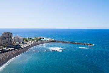 skyline of Puerto de la Cruz, Tenerife, Spain