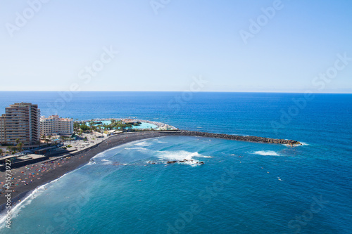 skyline of Puerto de la Cruz, Tenerife, Spain