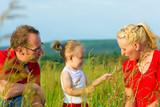 Kid in the meadow blowing dandelion seed