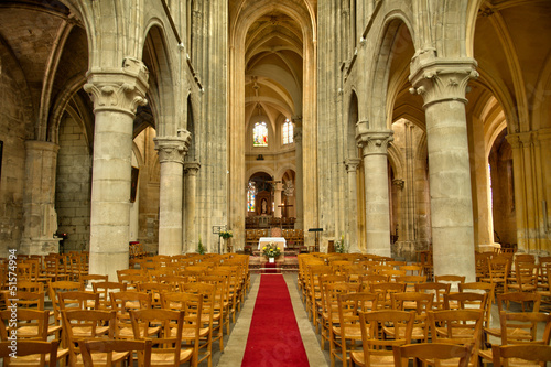 interior of the church Saint Martin of Triel sur Seine