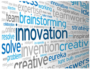 """INNOVATION"" Tag Cloud (ideas projects solutions quality design)"