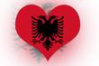 Albanian Flag heart