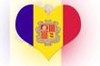 Andorran Flag heart
