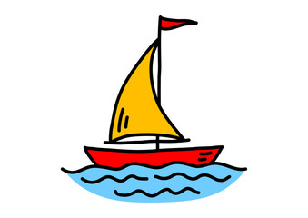 Sailboat drawing