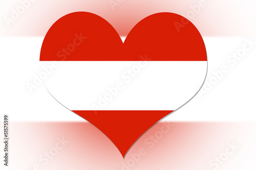 Austrian Flag heart