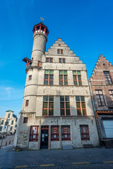 Toreken tower on Market Square in Gent, Belgium