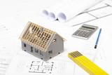 Planung zum Bau eines Hauses