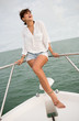 Summer woman on a yacht