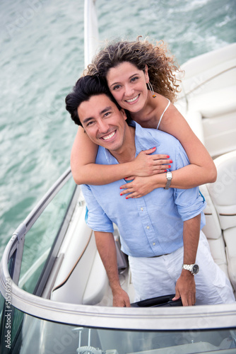 Couple on a yacht