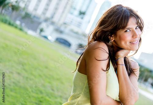 Beautiful casual woman